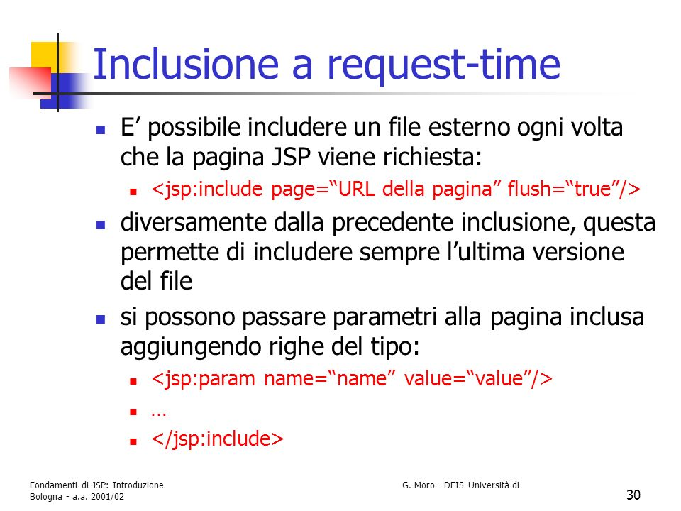 Inclusione a request-time