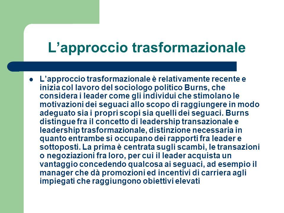 L'approccio trasformazionale