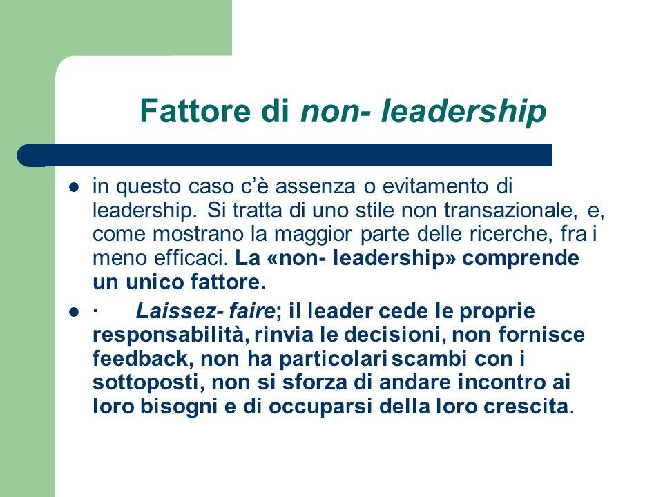 Fattore di non- leadership