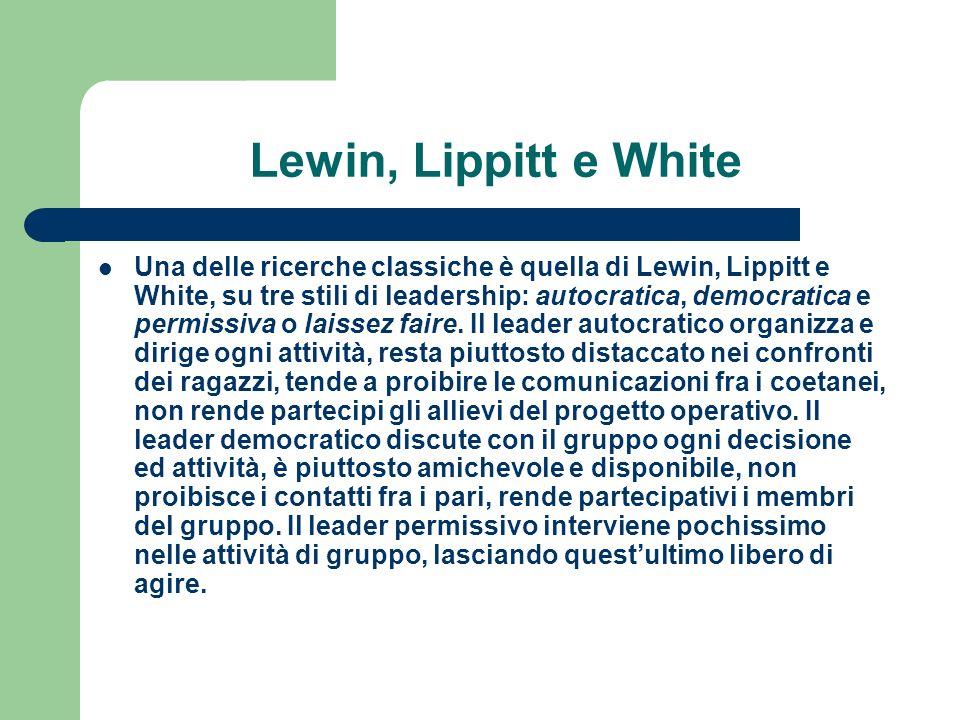 Lewin, Lippitt e White