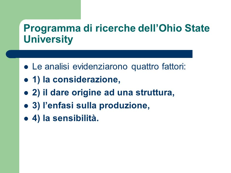 Programma di ricerche dell'Ohio State University