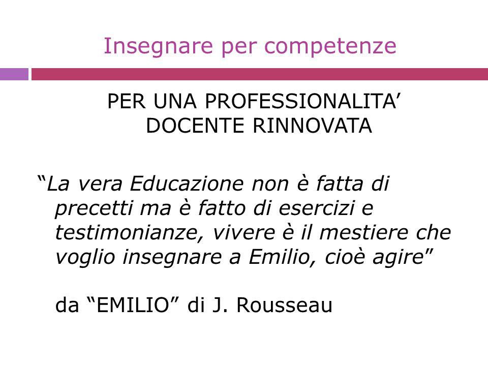 Insegnare per competenze