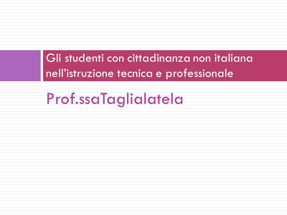 Gli studenti con cittadinanza non italiana nell'istruzione tecnica e professionale