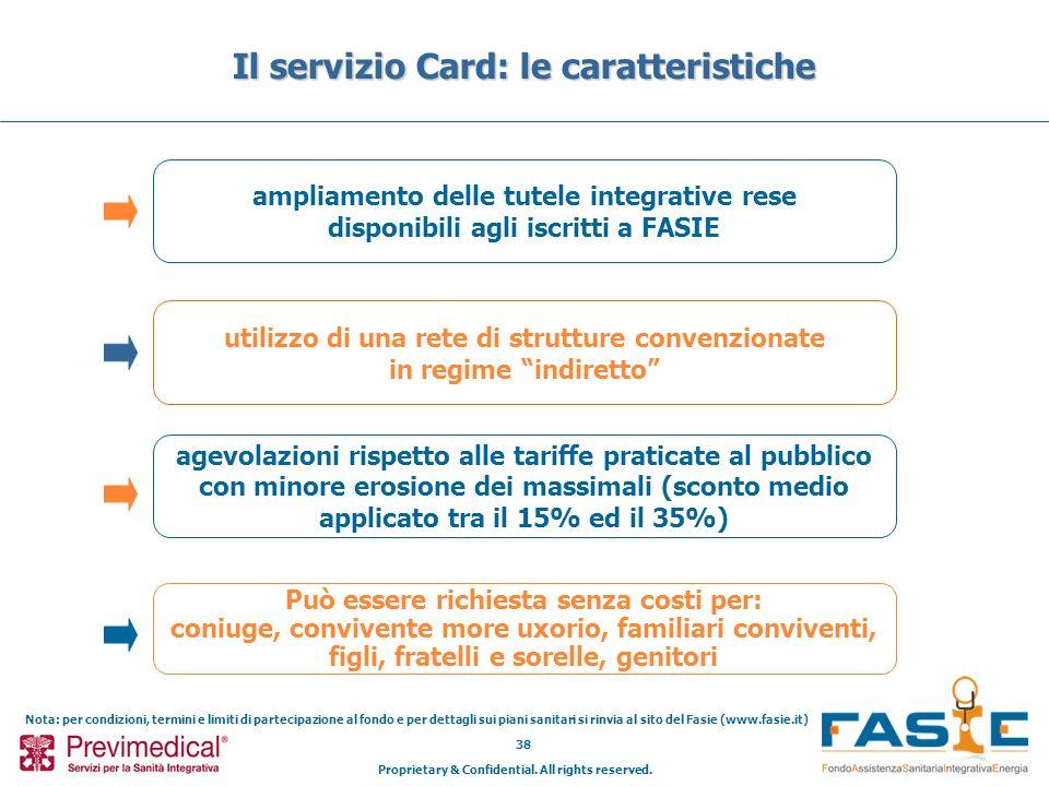 Il servizio Card: le caratteristiche