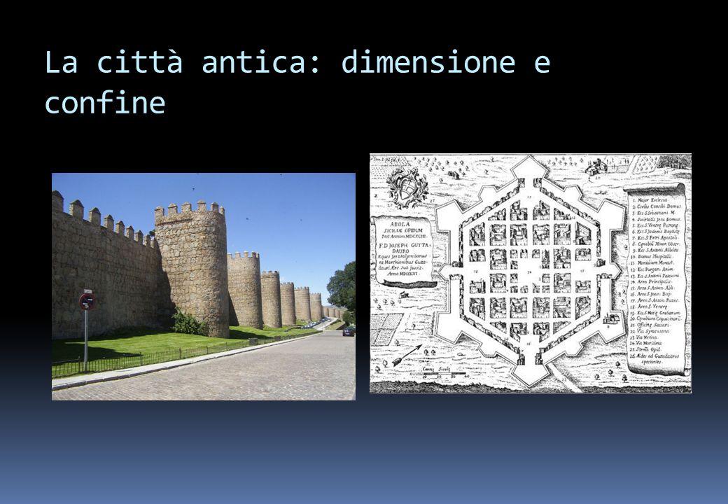 La città antica: dimensione e confine