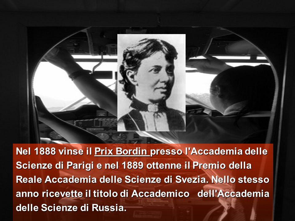 Nel 1888 vinse il Prix Bordin presso l Accademia delle