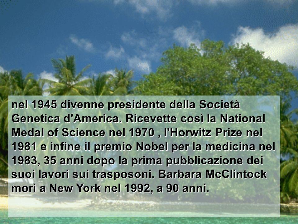 nel 1945 divenne presidente della Società Genetica d America