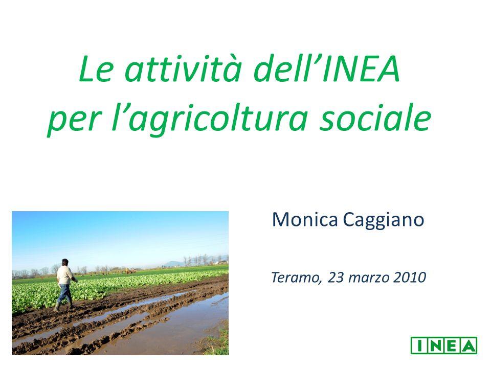 Le attività dell'INEA per l'agricoltura sociale