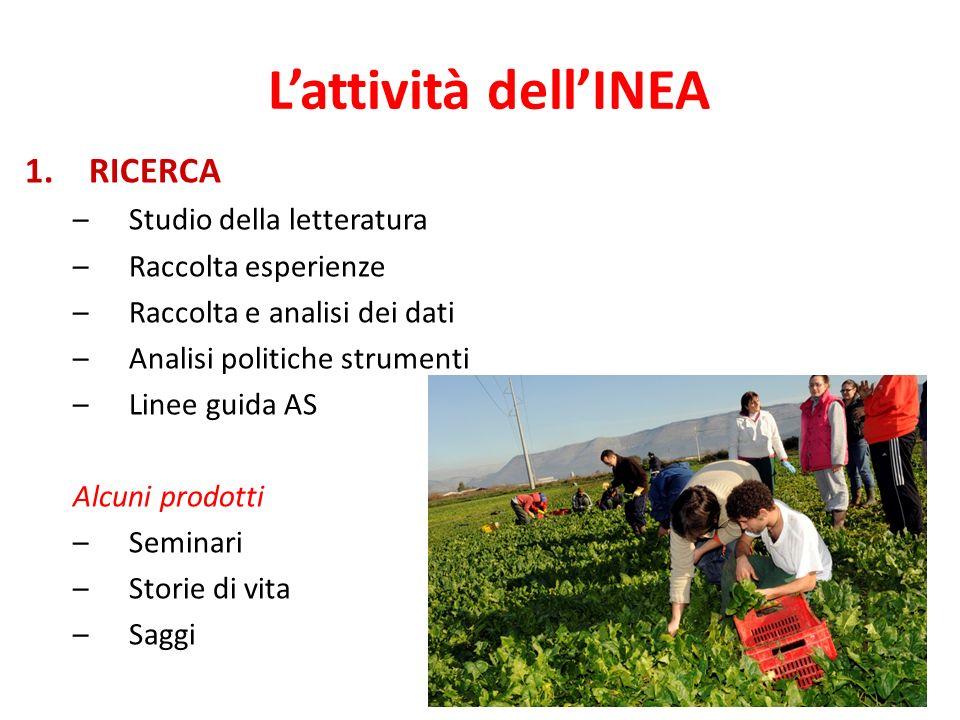 L'attività dell'INEA RICERCA Studio della letteratura