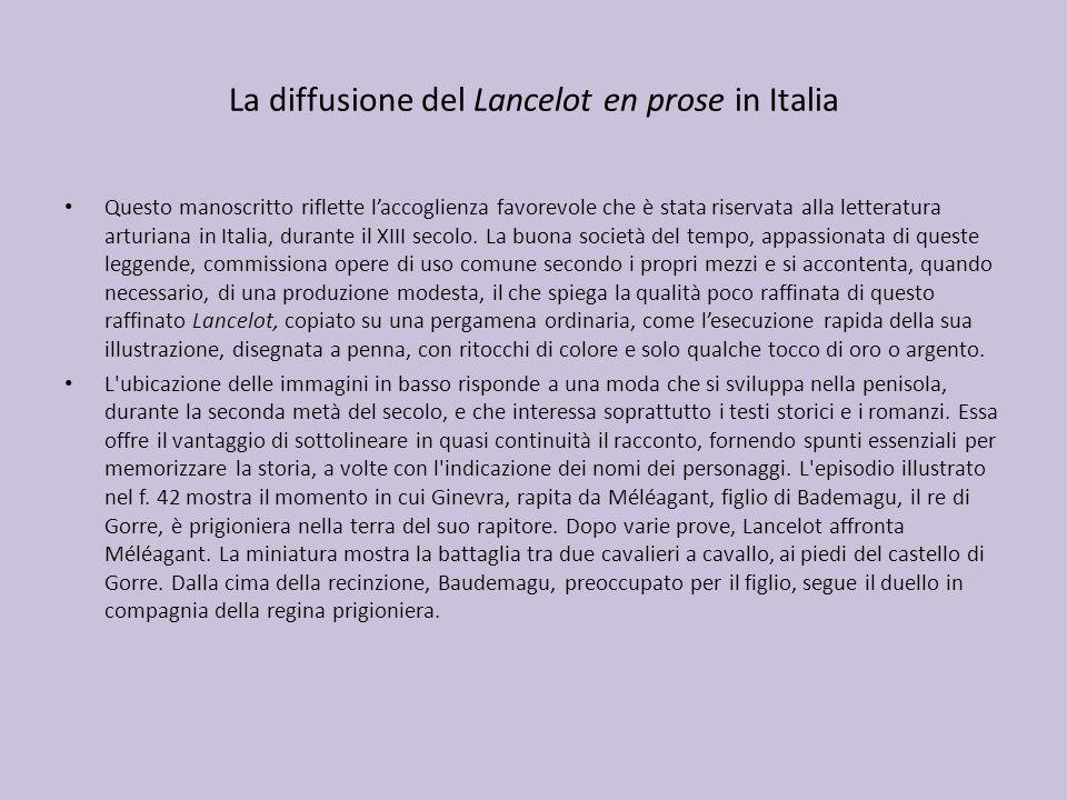 La diffusione del Lancelot en prose in Italia