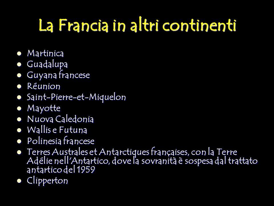 La Francia in altri continenti