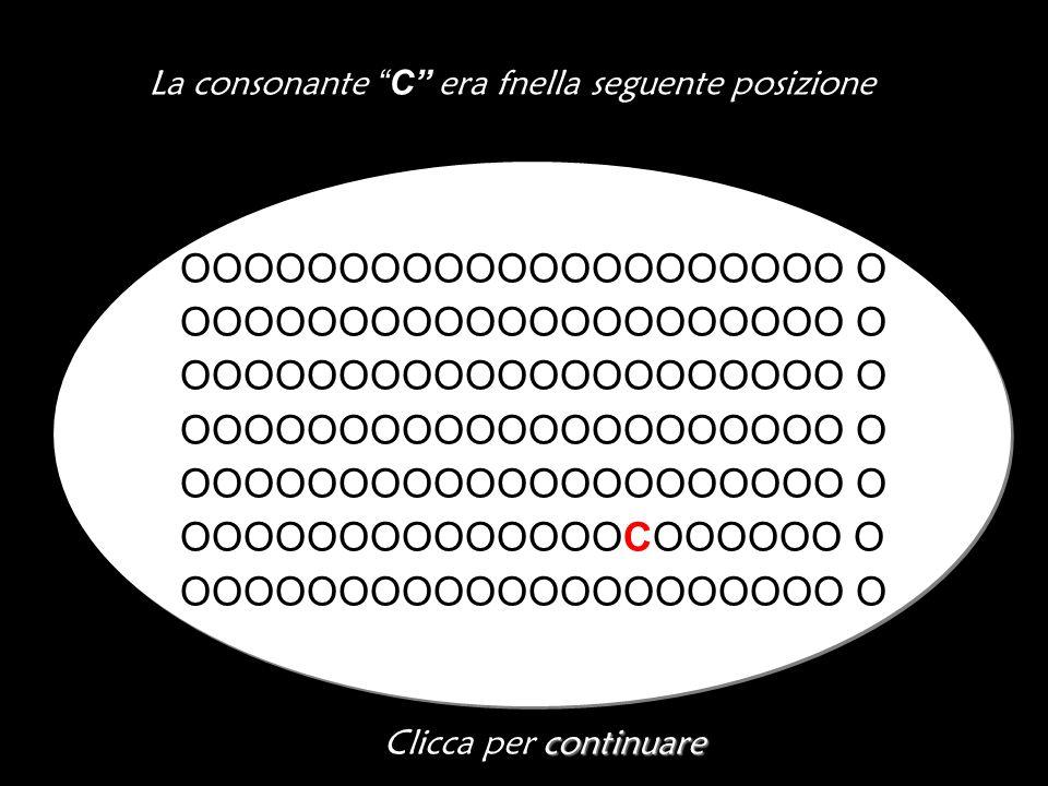 La consonante C era fnella seguente posizione