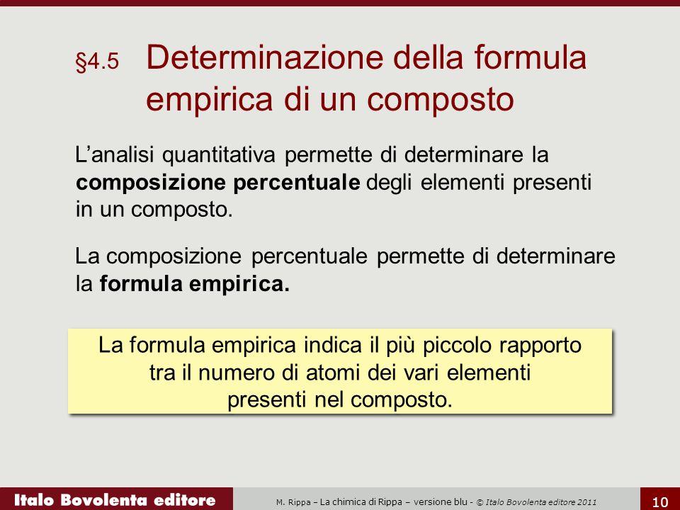 §4.5 Determinazione della formula empirica di un composto