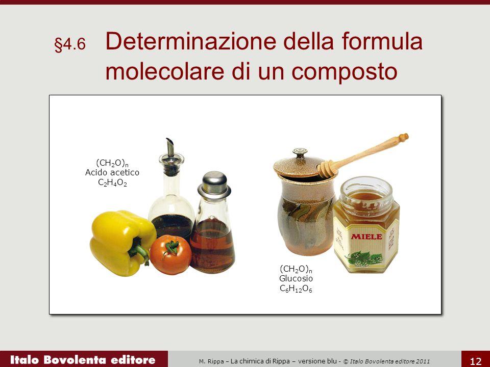 §4.6 Determinazione della formula molecolare di un composto