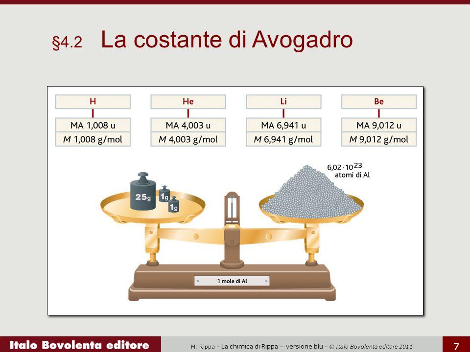 §4.2 La costante di Avogadro