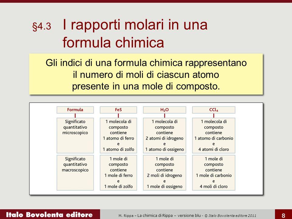 §4.3 I rapporti molari in una formula chimica