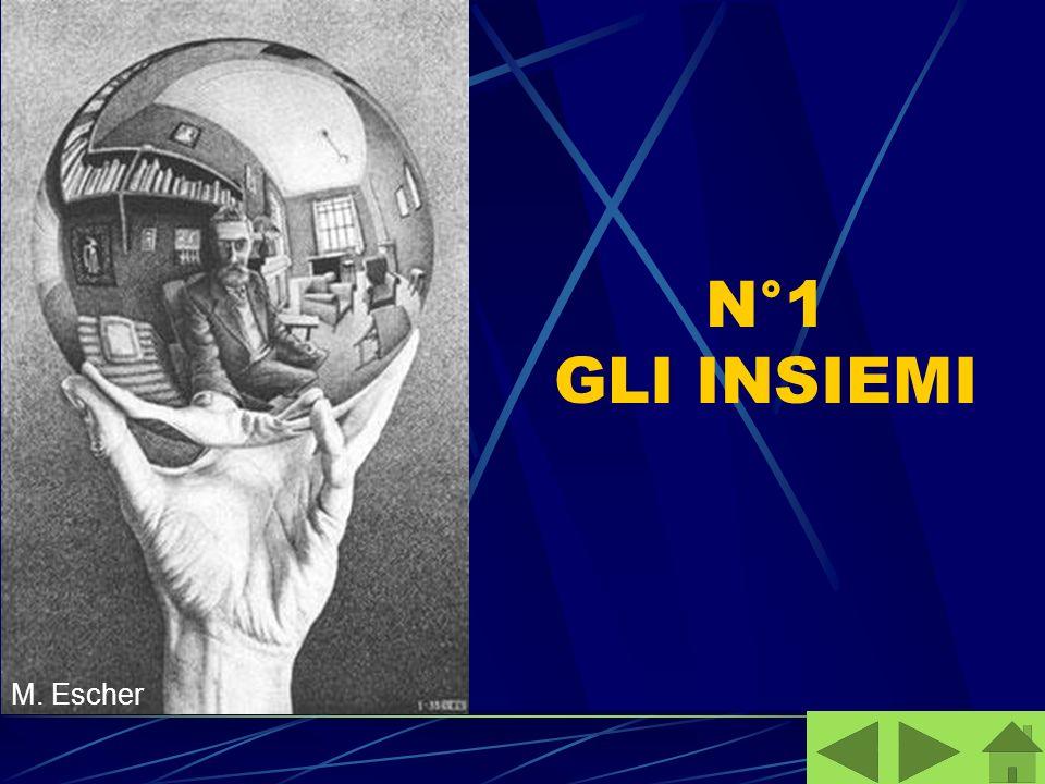 N°1 GLI INSIEMI M. Escher