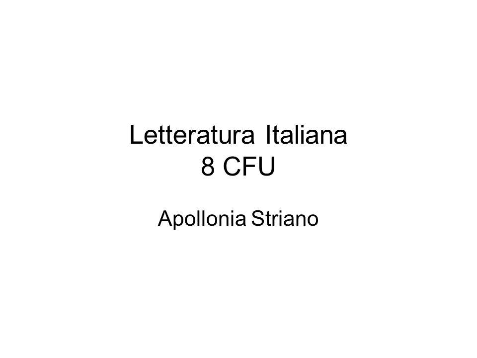 Letteratura Italiana 8 CFU