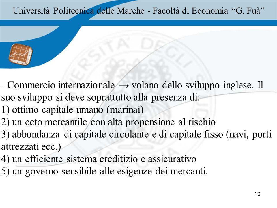 Università Politecnica delle Marche - Facoltà di Economia G. Fuà
