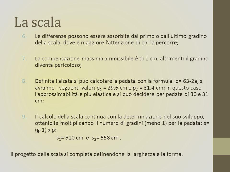 La scala Le differenze possono essere assorbite dal primo o dall'ultimo gradino della scala, dove è maggiore l'attenzione di chi la percorre;