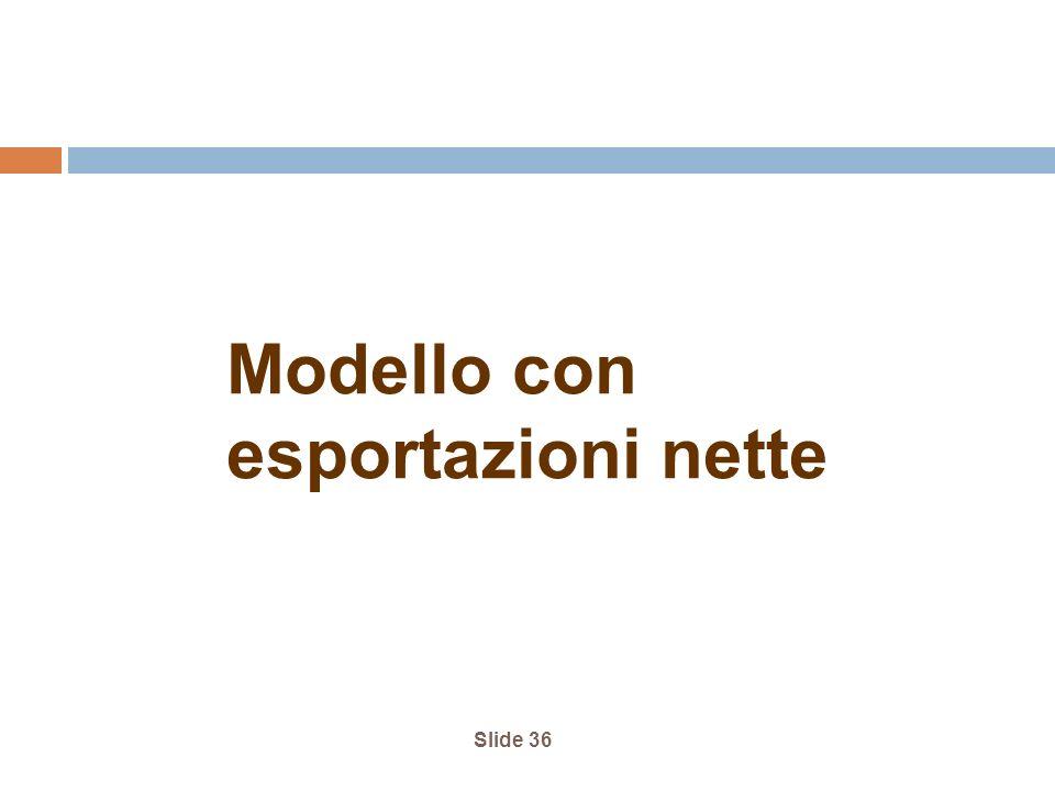 Modello con esportazioni nette