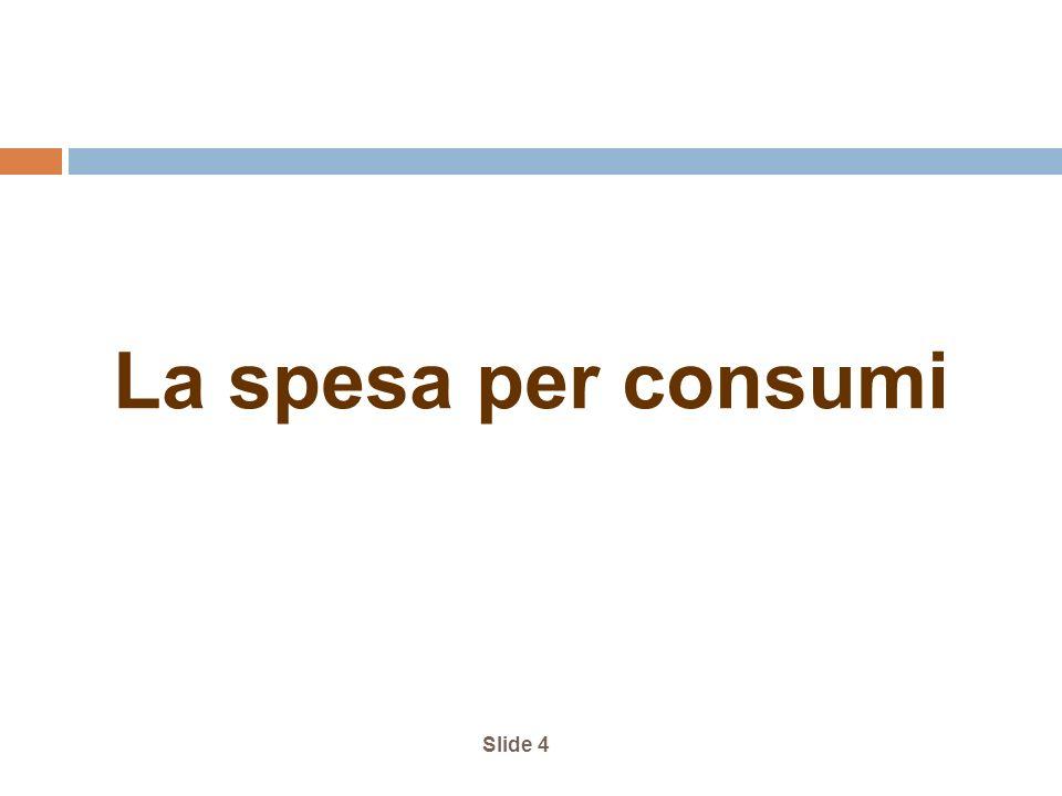 La spesa per consumi