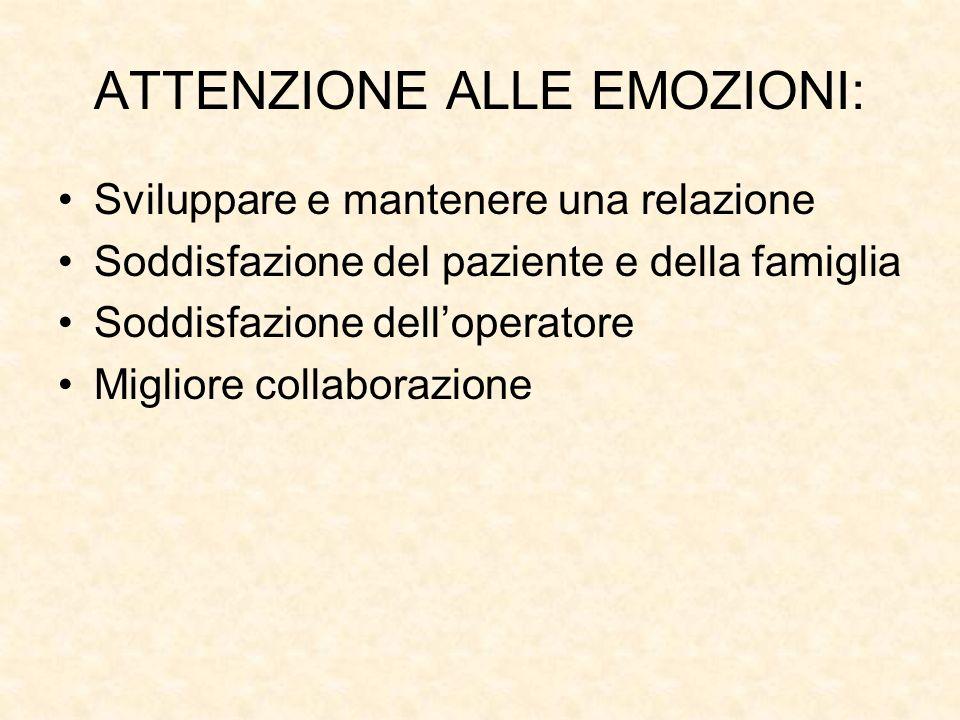 ATTENZIONE ALLE EMOZIONI: