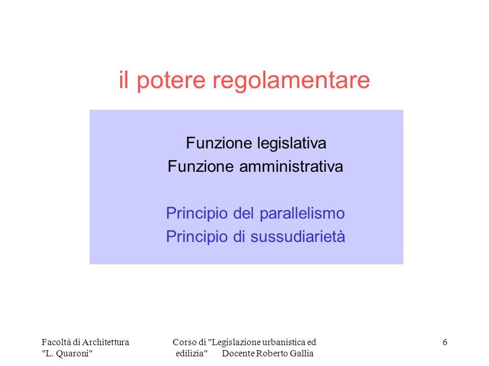il potere regolamentare