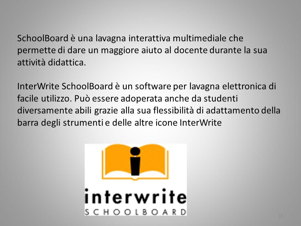 SchoolBoard è una lavagna interattiva multimediale che permette di dare un maggiore aiuto al docente durante la sua attività didattica.