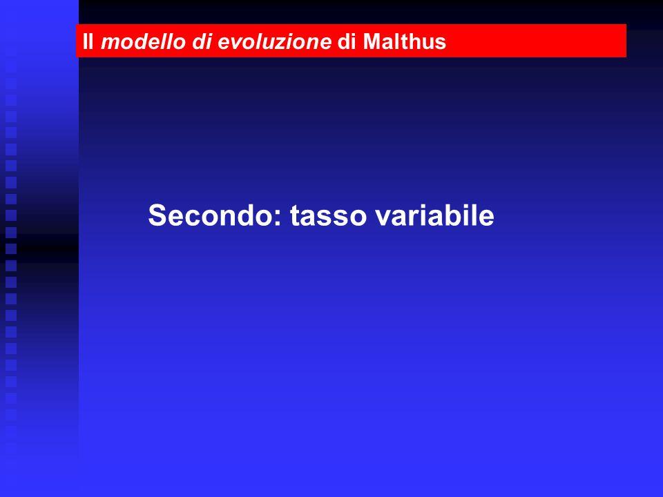Secondo: tasso variabile