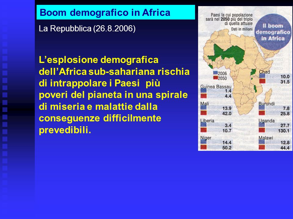 Boom demografico in Africa