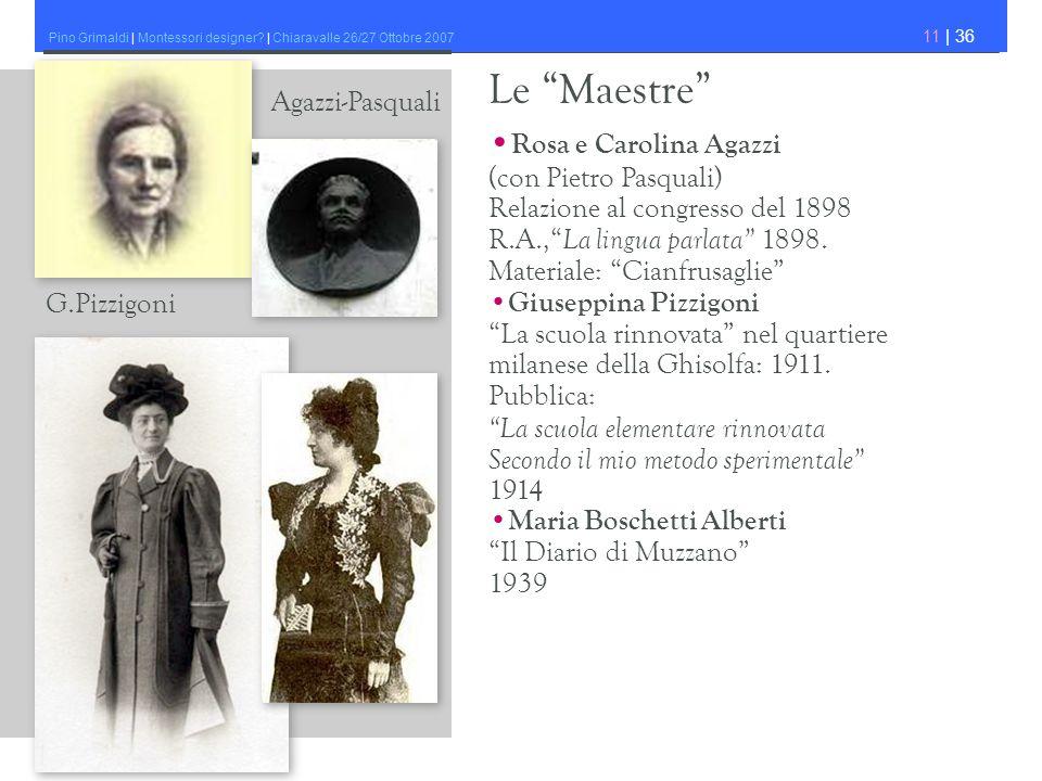 Le Maestre •Rosa e Carolina Agazzi Agazzi-Pasquali