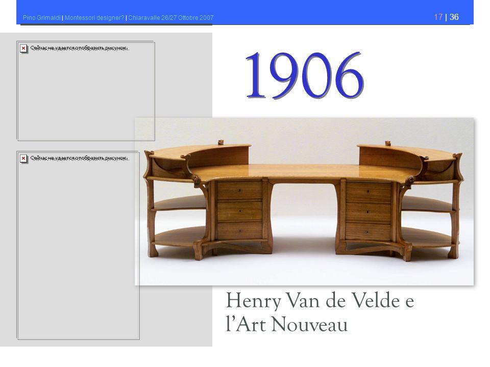 1906 Henry Van de Velde e l'Art Nouveau