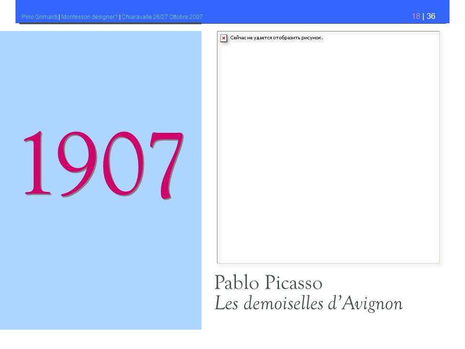 1907 Pablo Picasso Les demoiselles d'Avignon
