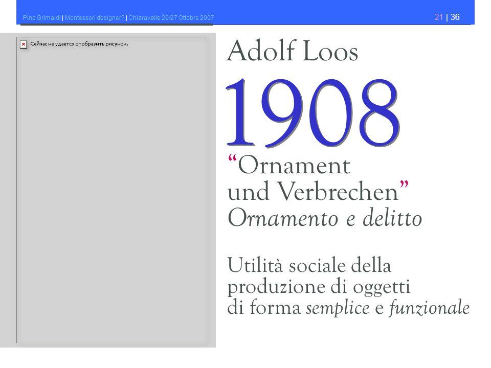 1908 Adolf Loos Ornament und Verbrechen Ornamento e delitto