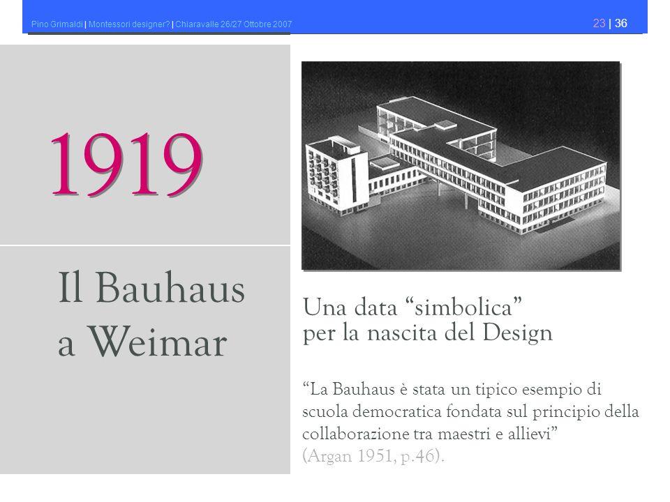 1919 Il Bauhaus a Weimar Una data simbolica