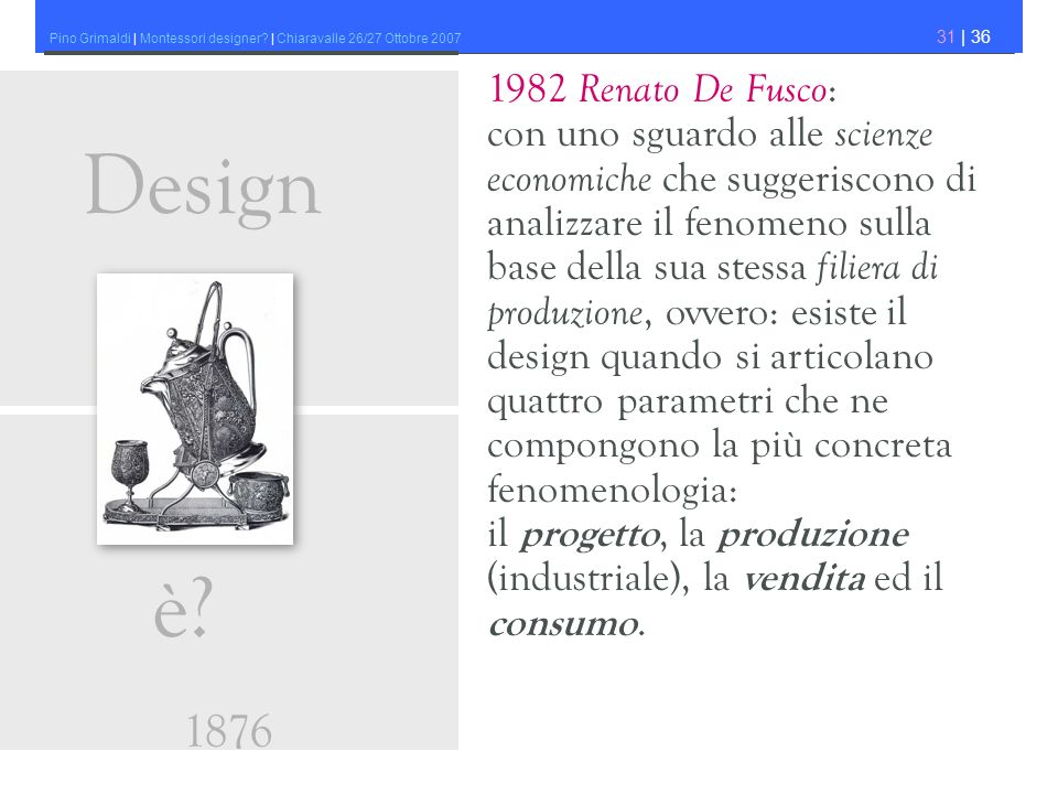 Design è 1876 1982 Renato De Fusco: