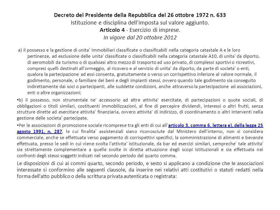 Decreto del Presidente della Repubblica del 26 ottobre 1972 n