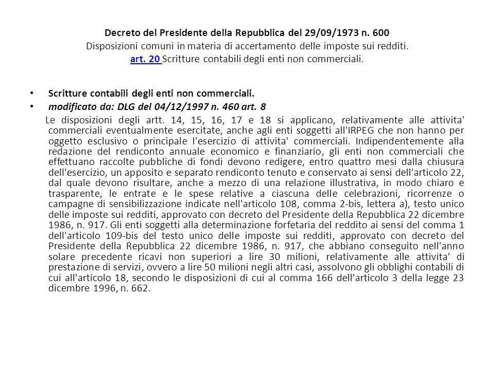 Decreto del Presidente della Repubblica del 29/09/1973 n