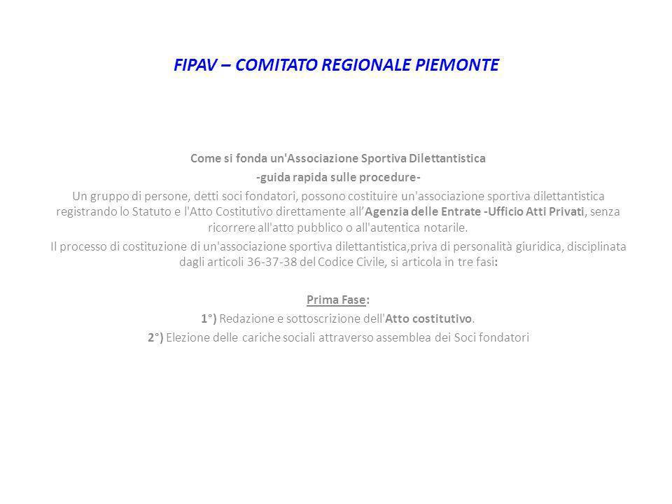 FIPAV – COMITATO REGIONALE PIEMONTE