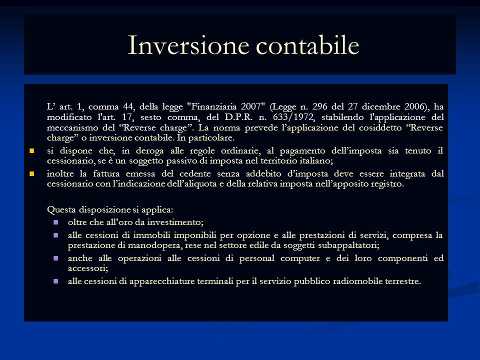 Inversione contabile