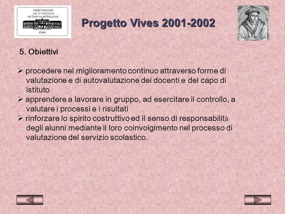 Progetto Vives 2001-2002 5. Obiettivi