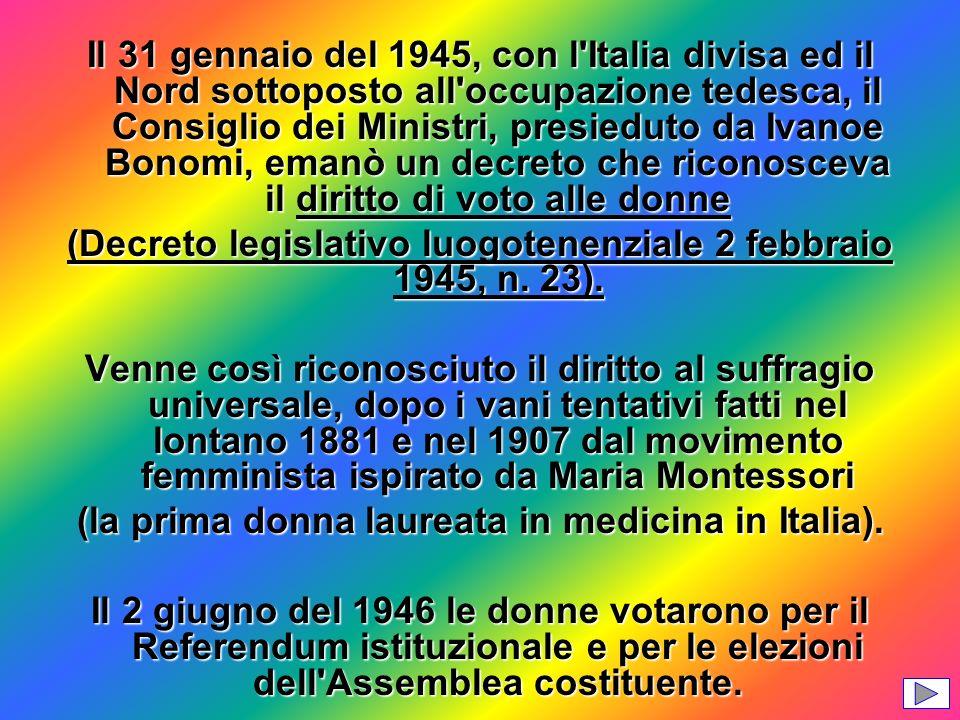 (Decreto legislativo luogotenenziale 2 febbraio 1945, n. 23).