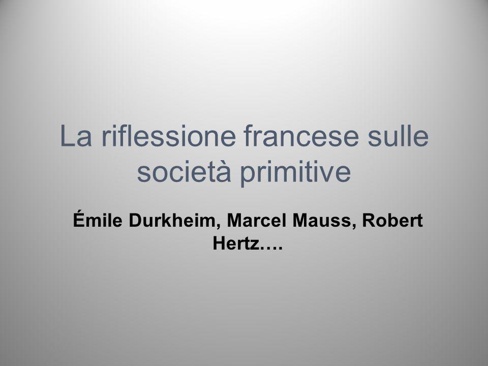 La riflessione francese sulle società primitive