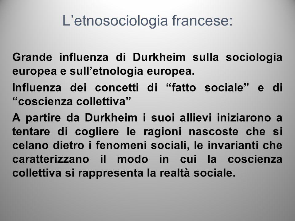 L'etnosociologia francese: