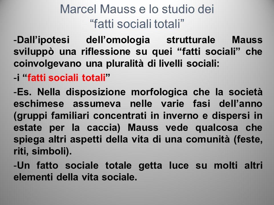 Marcel Mauss e lo studio dei fatti sociali totali