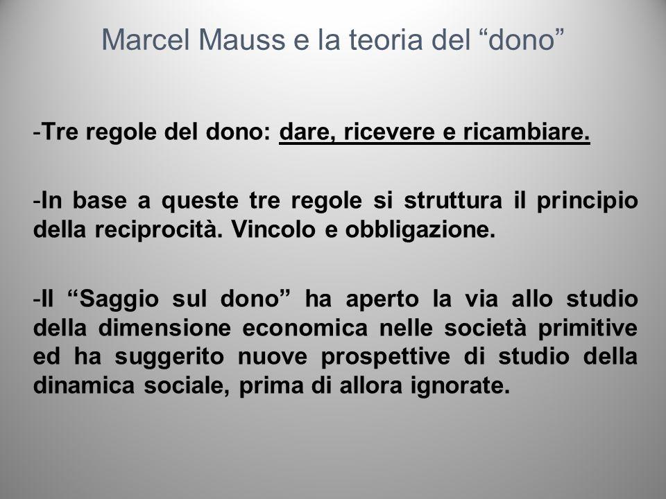 Marcel Mauss e la teoria del dono