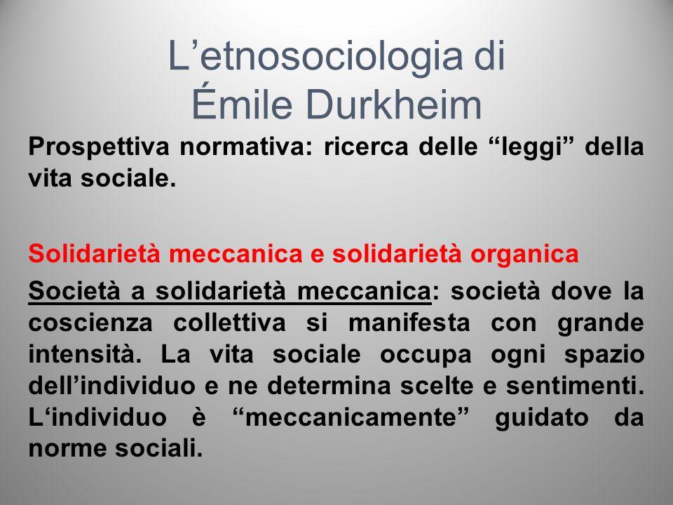 L'etnosociologia di Émile Durkheim