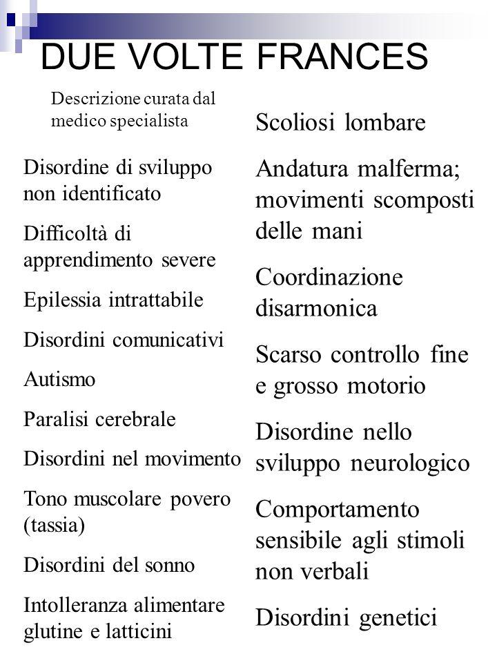 DUE VOLTE FRANCES Scoliosi lombare
