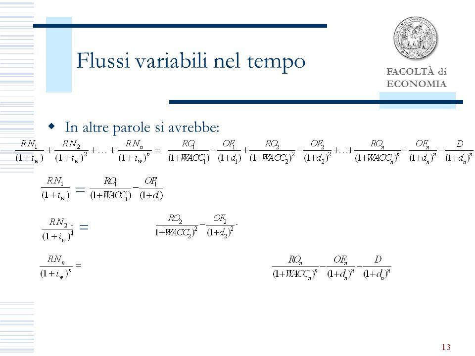 Flussi variabili nel tempo